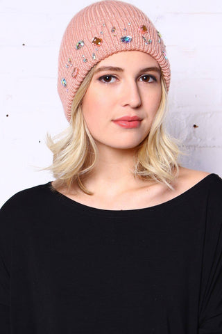 Ice Queen Beanie - Blush