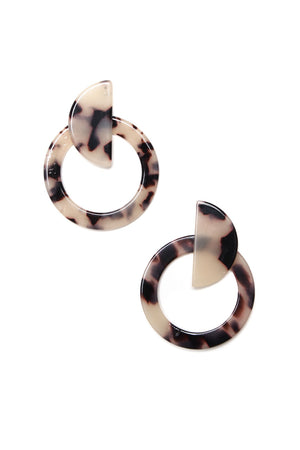 Half Time Statement Earrings - Marble