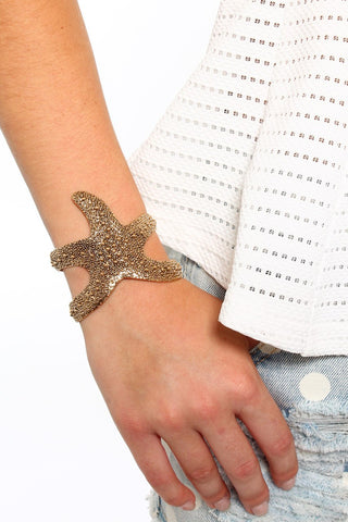 Starfish Cuff - Gold