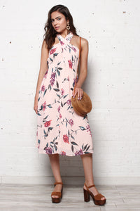 ASTR The Label Kristi Floral Print Dress