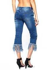 Full On Fringe Cropped Denim