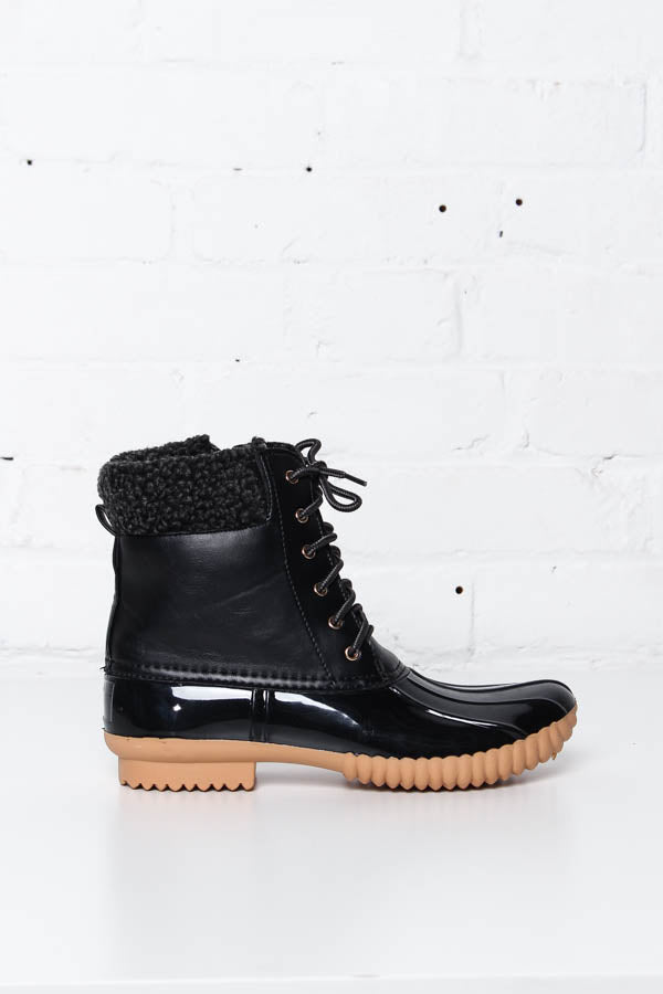 Dinah Lined Duck Boot - Black - Calico