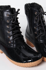 Dinah Lined Duck Boot - Black