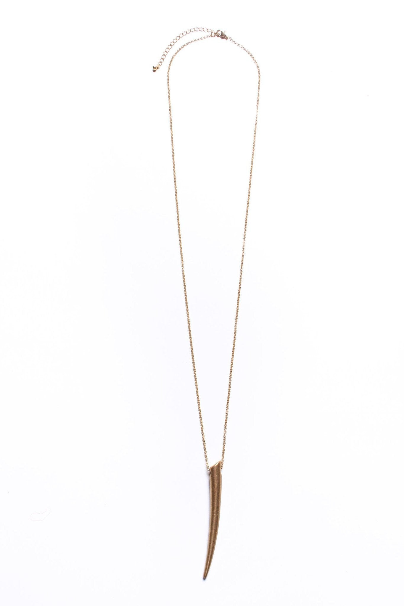 Golden Tusk Necklace