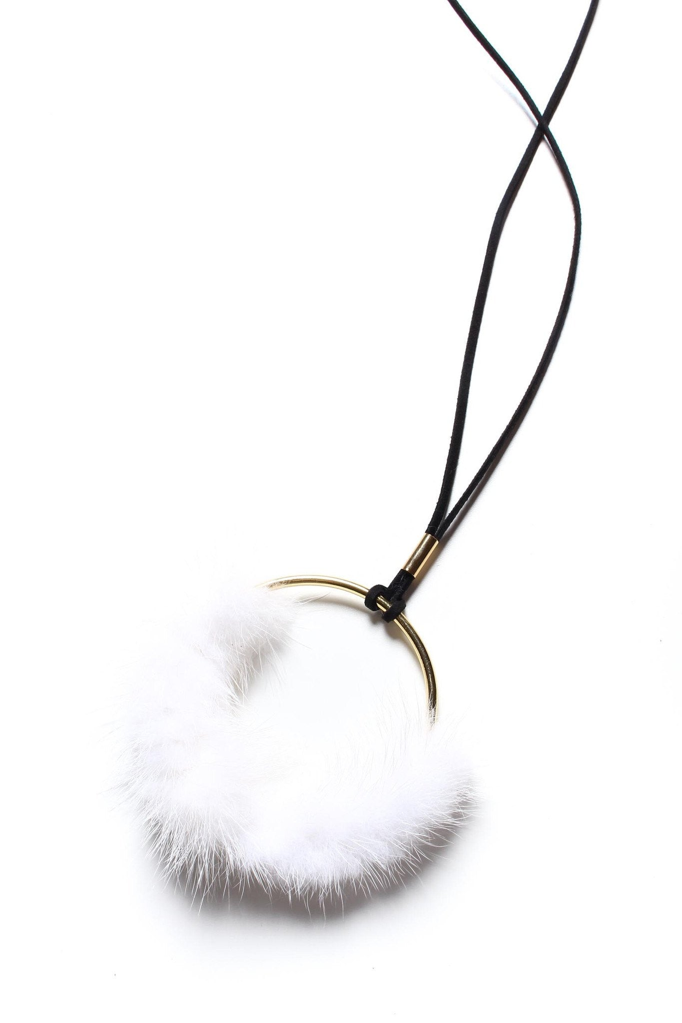 Spin Me Round Fur Necklace