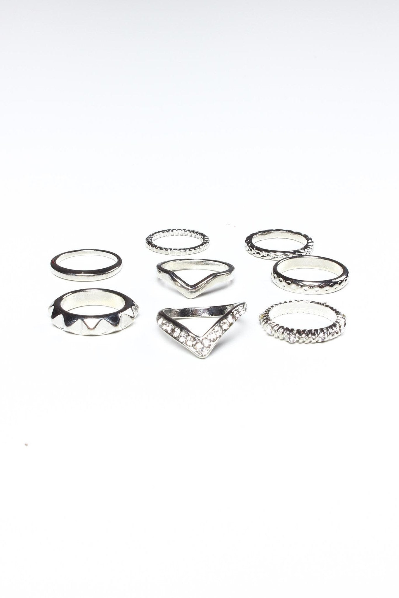 Meet The Band Ring Set - Silver