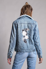 On Point Floral Embroidered Denim Jacket