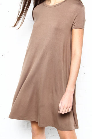 First Base Tee Dress - Khaki