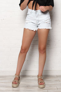 Just Black Wash Out Highrise Cutoffs