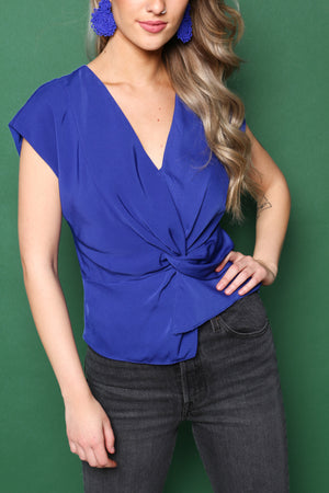 Out Of The Blue Twist Front Top