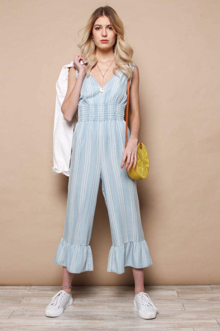 BB Dakota Indigo Flow Jumpsuit