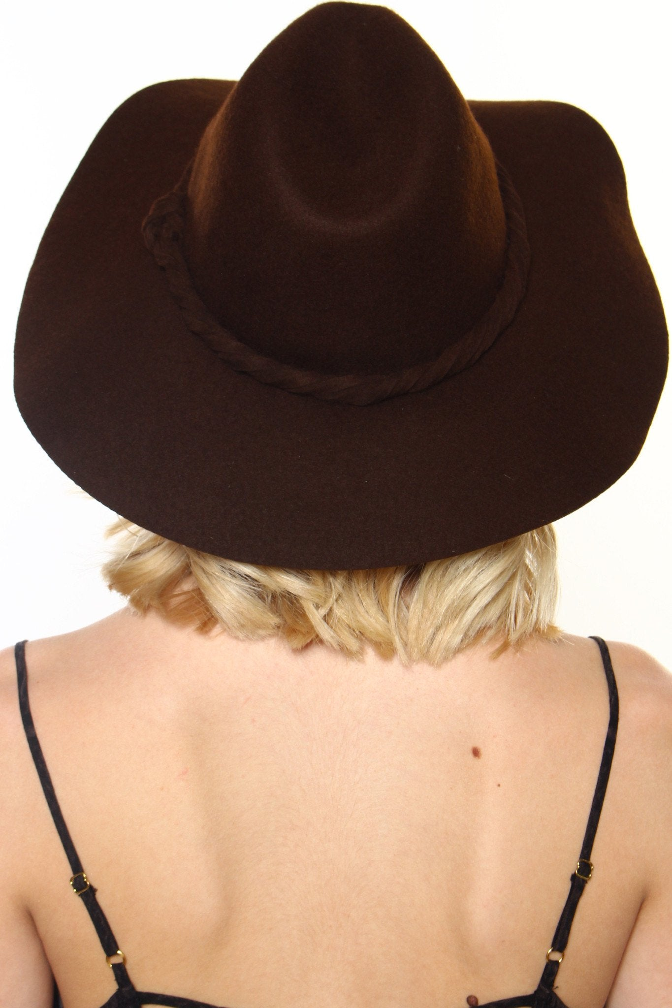 Road Trip Wide Brim Hat - Brown