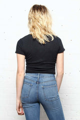 Project Social T Sparrow Crop Top - Black