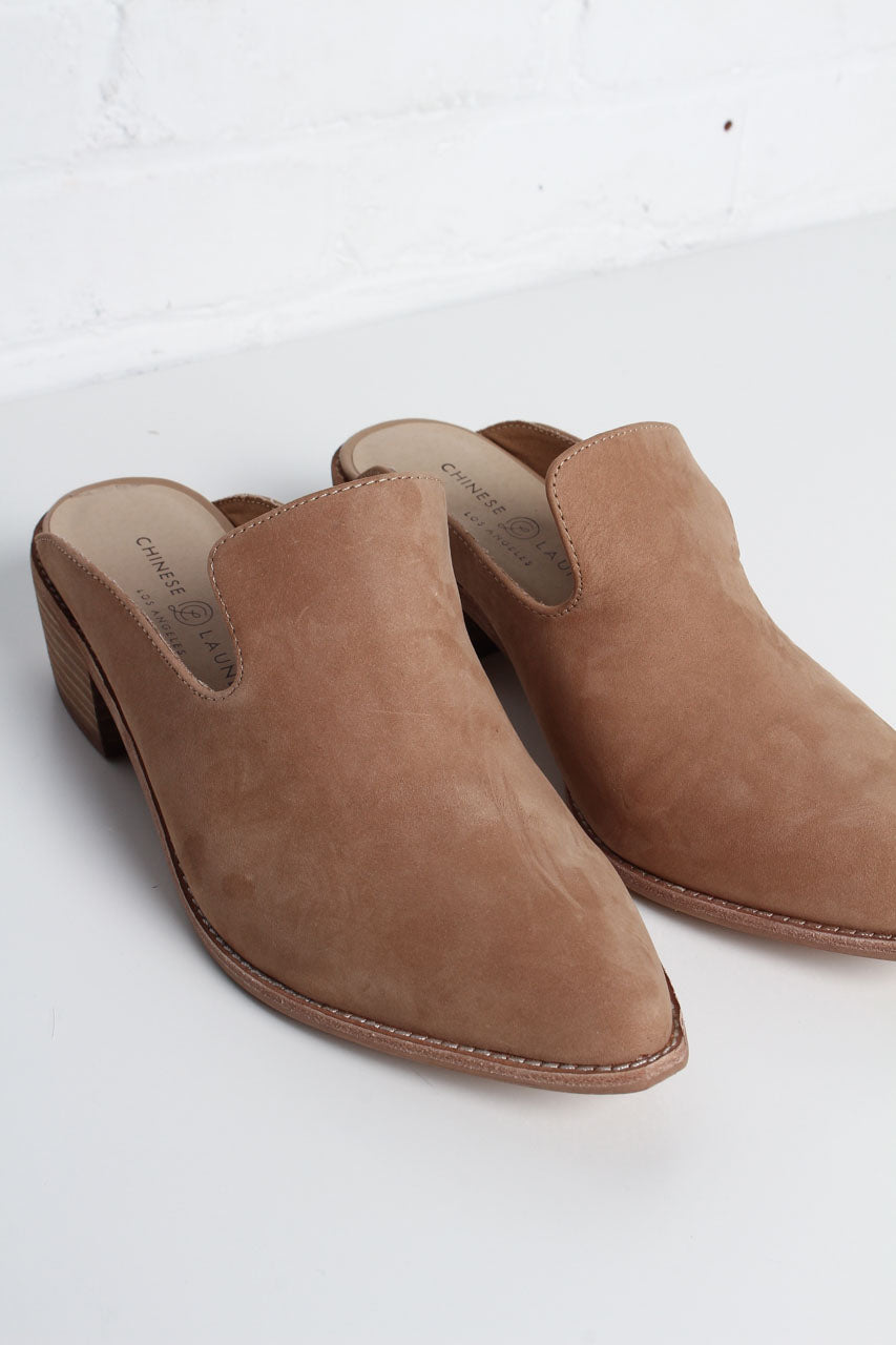 Chinese Laundry Marnie Leather Mules - Tan - Calico