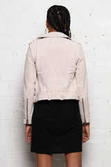 Blank NYC Suede Moto Jacket - Blondie