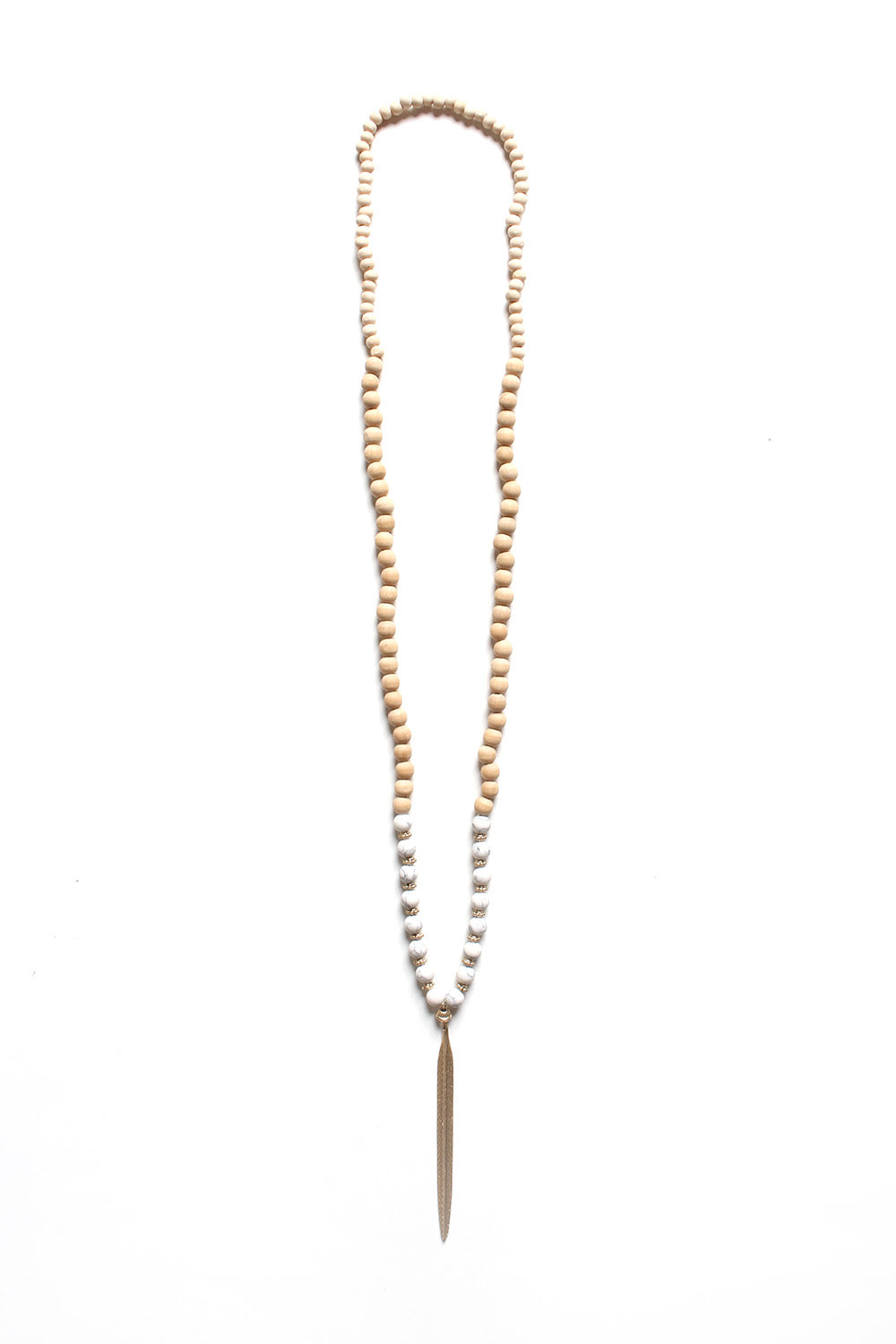 Spike & Bead Pendant Necklace