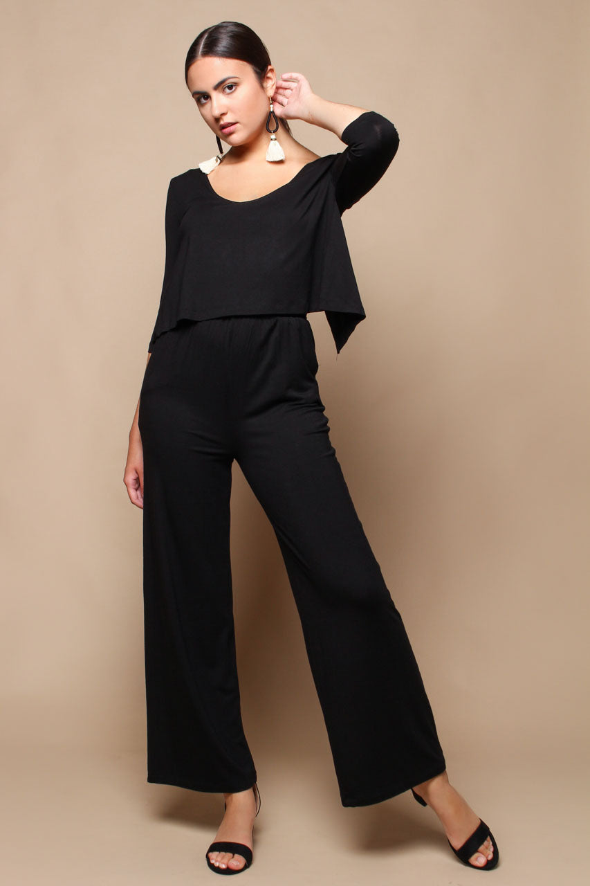 BB Dakota Smooth Operator Scoop Neck Jumpsuit - Black