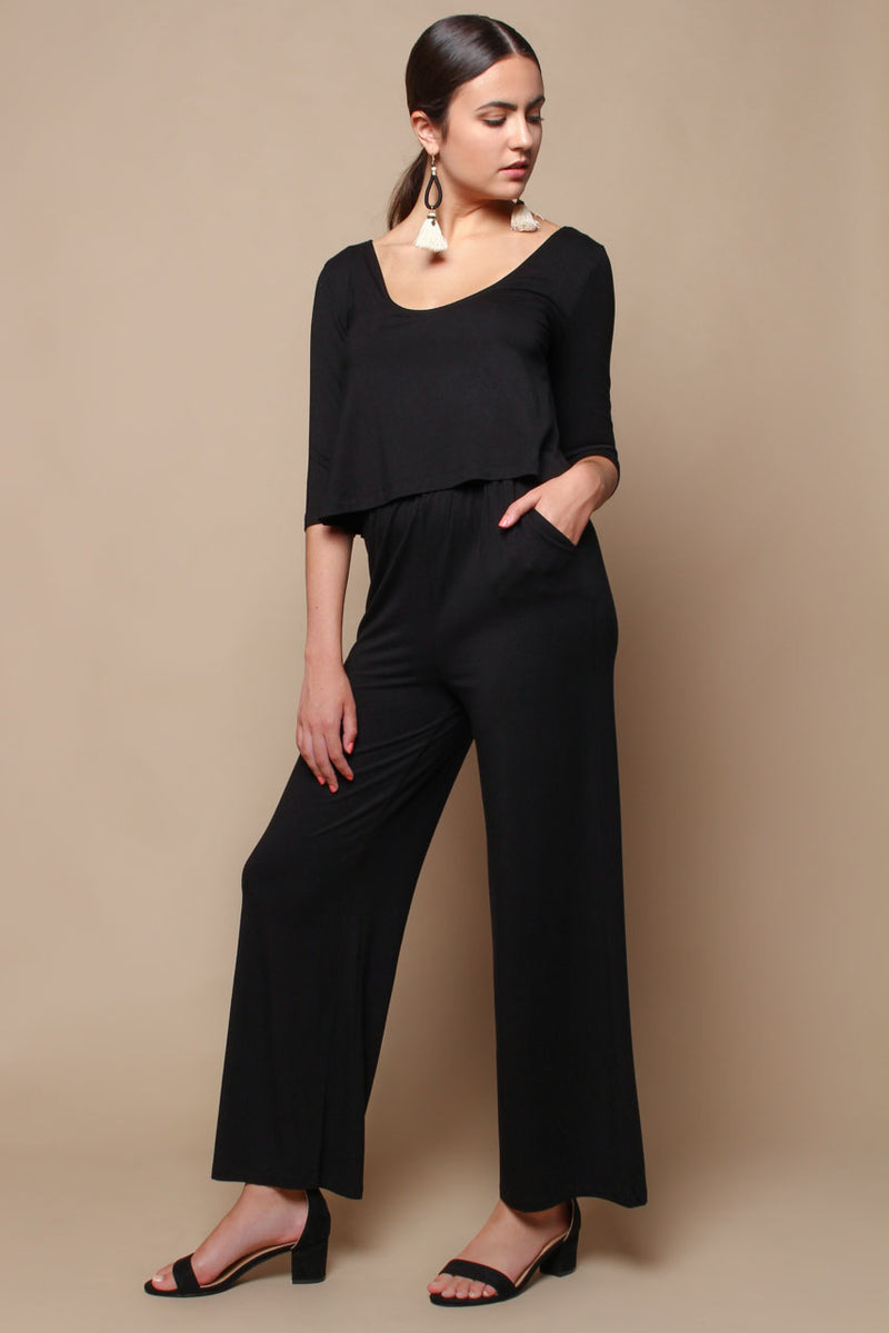 BB Dakota Smooth Operator Jumpsuit - Black