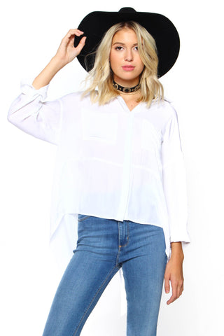MINKPINK Long Lost Split Back Shirt