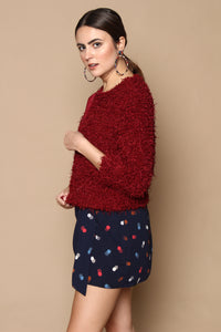 BB Dakota Can't Touch This Cardi - Dark Red