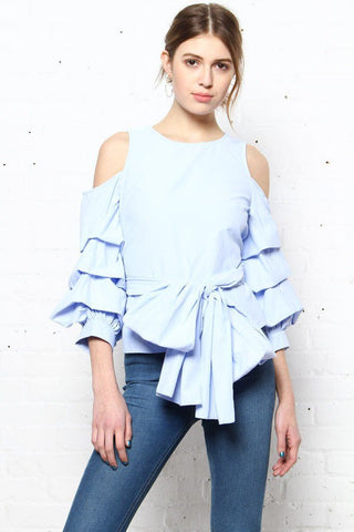 JOA Bold Move Statement Sleeve Top