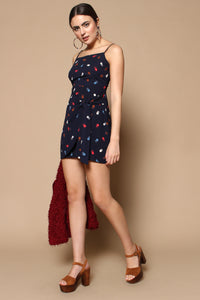 Shape Up Tie Front Slip Dress - Navy