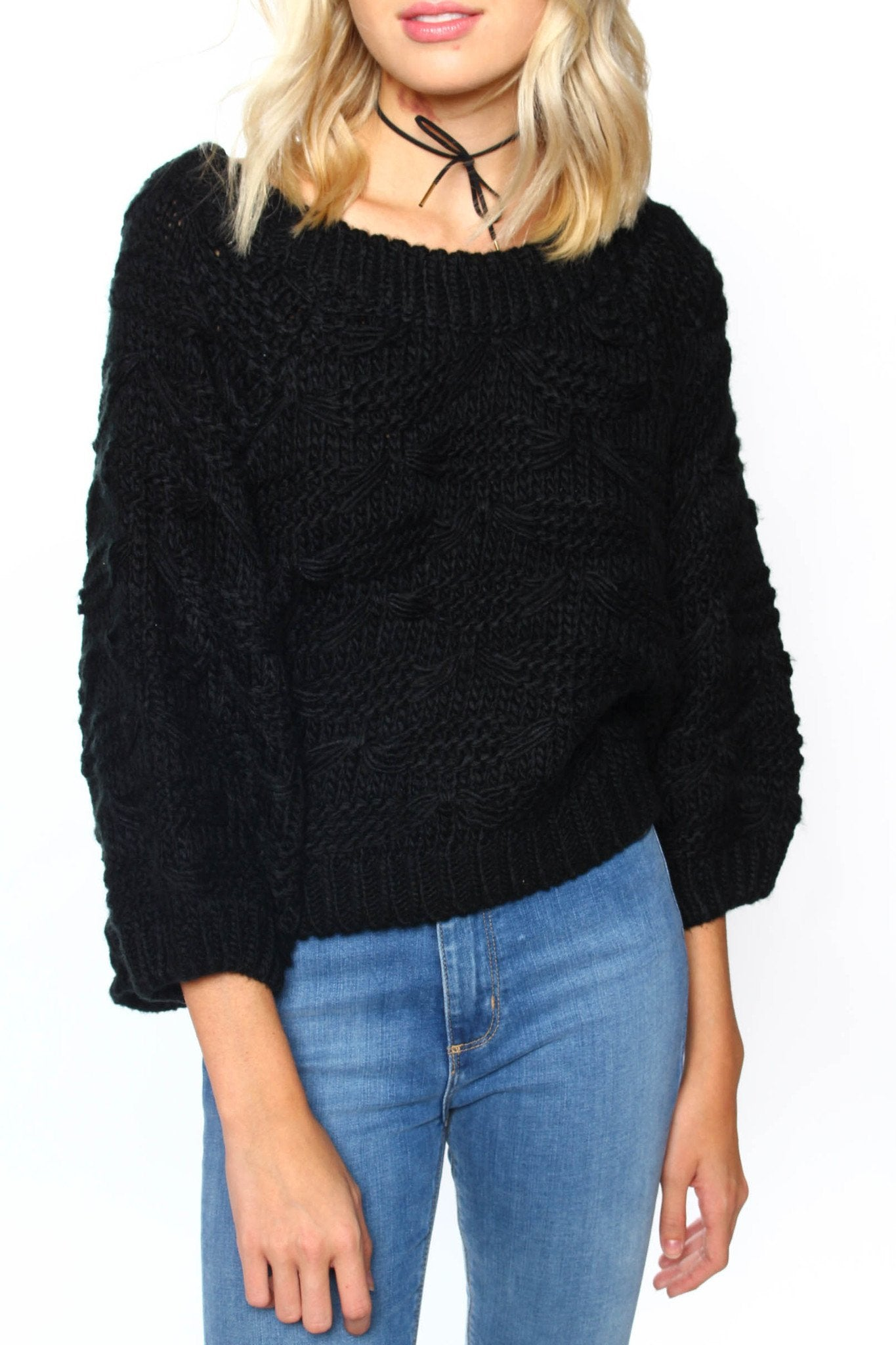 Somedays Lovin' Back At The Ranch Crop Knit