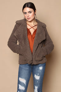 BB Dakota Speak Now Teddy Jacket - Walnut