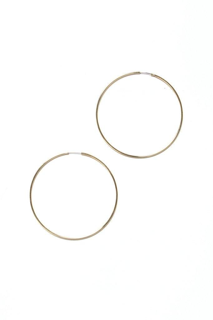 Plain As Day Endless Hoops - Gold