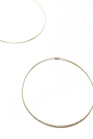 Thin Of It Endless Hoop Earrings - Gold