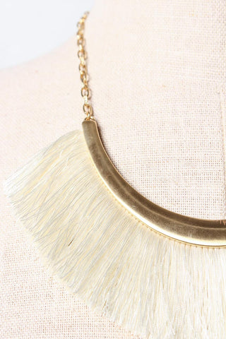 Biggest Fan Statement Necklace - Cream