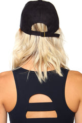 Opening Day Suede Cap - Black