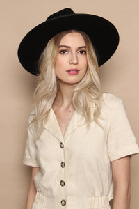 Lack of Color Noir Rancher Wide Brim Hat