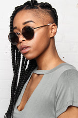 AJ Morgan Clayton Round Wire Sunglasses