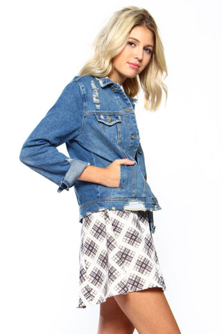 Distress Me Out Denim Jacket