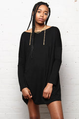 Easy Does It Everyday Tunic Dress - Black