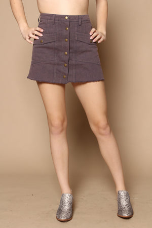 Bebe Highwaist A Line Mini Skirt - Gray