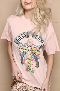 Daydreamer Guns n' Roses Skull Cross Boyfriend Tee