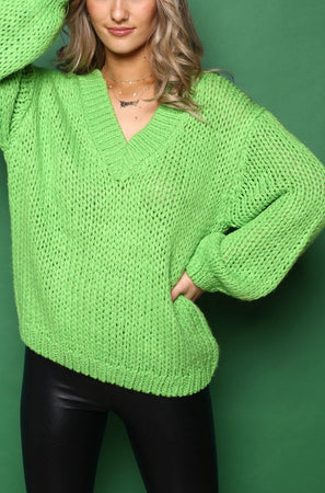 J.O.A Oversize V Neck Sweater