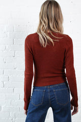 First Light Cropped Knit - Rust
