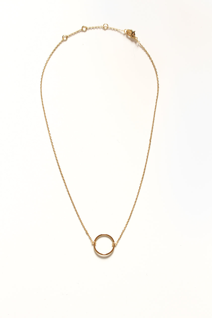 Dainty Circle Choker Necklace - Gold