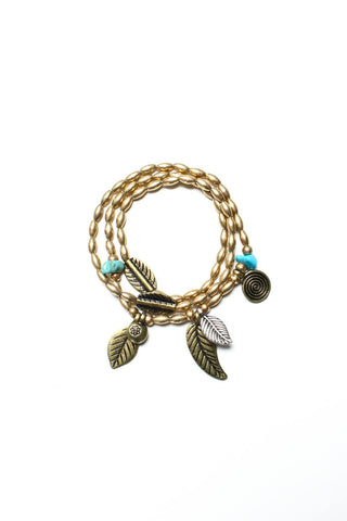 Leaf It To Me Wrap Bracelet - Gold