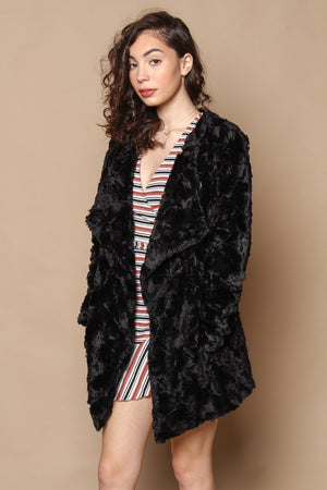 BB Dakota Tucker Draped Jacket - Black