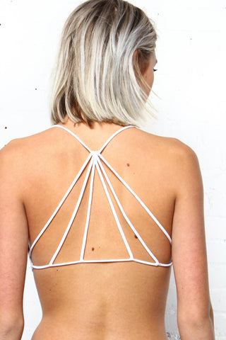 Free People Strappy Back Bralette - White