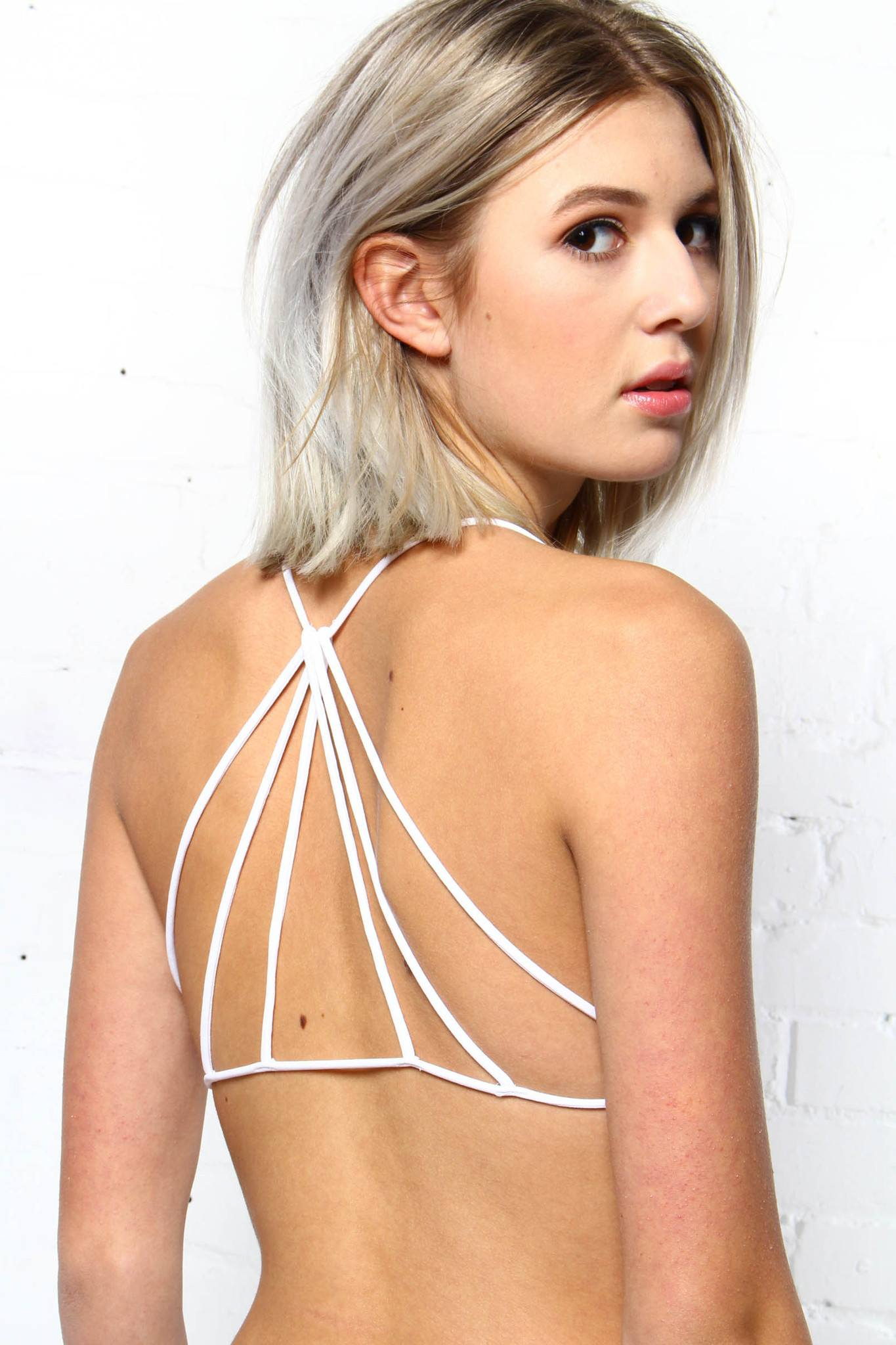 Free People Strappy Back Bra - White