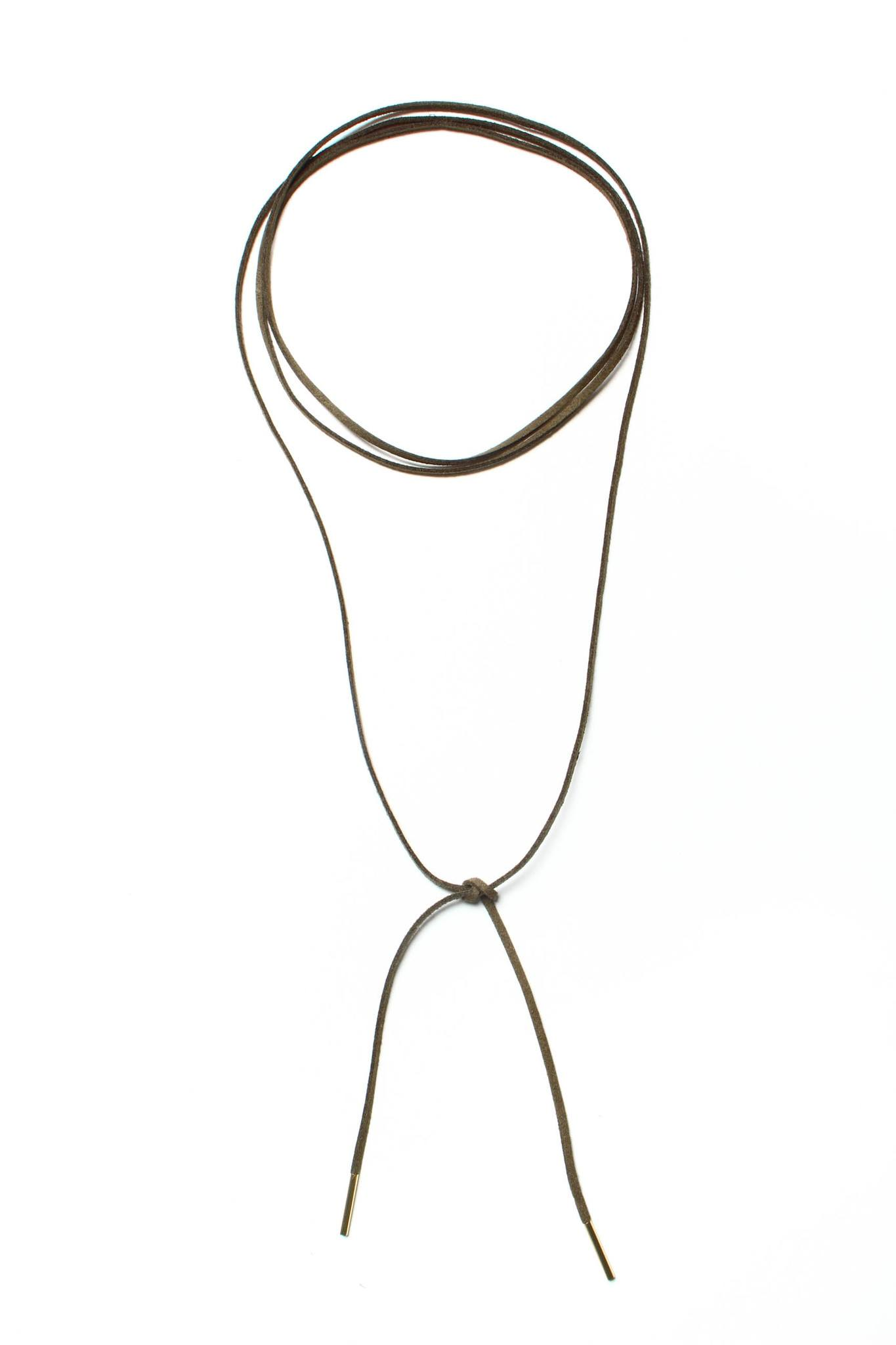 Maria Wrap Necklace - Olive