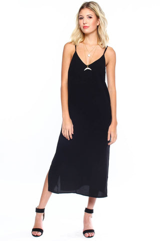 Say No More Midi Dress - Black