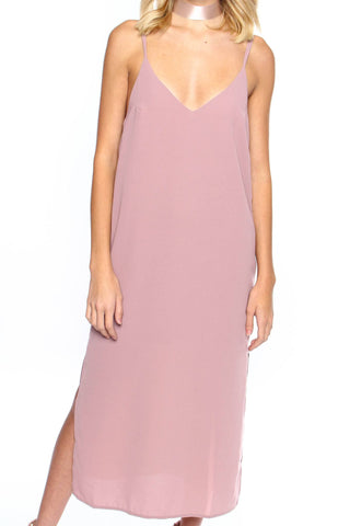 Say No More Midi Dress - Rose