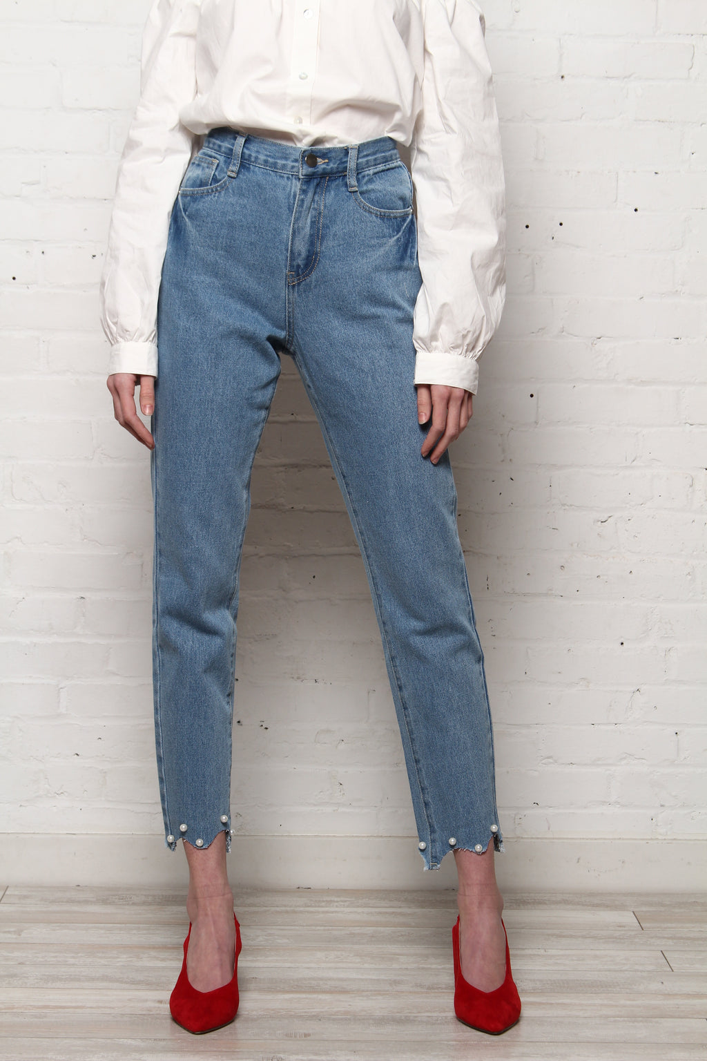 Jovanna London Highwaist Pearl Jeans