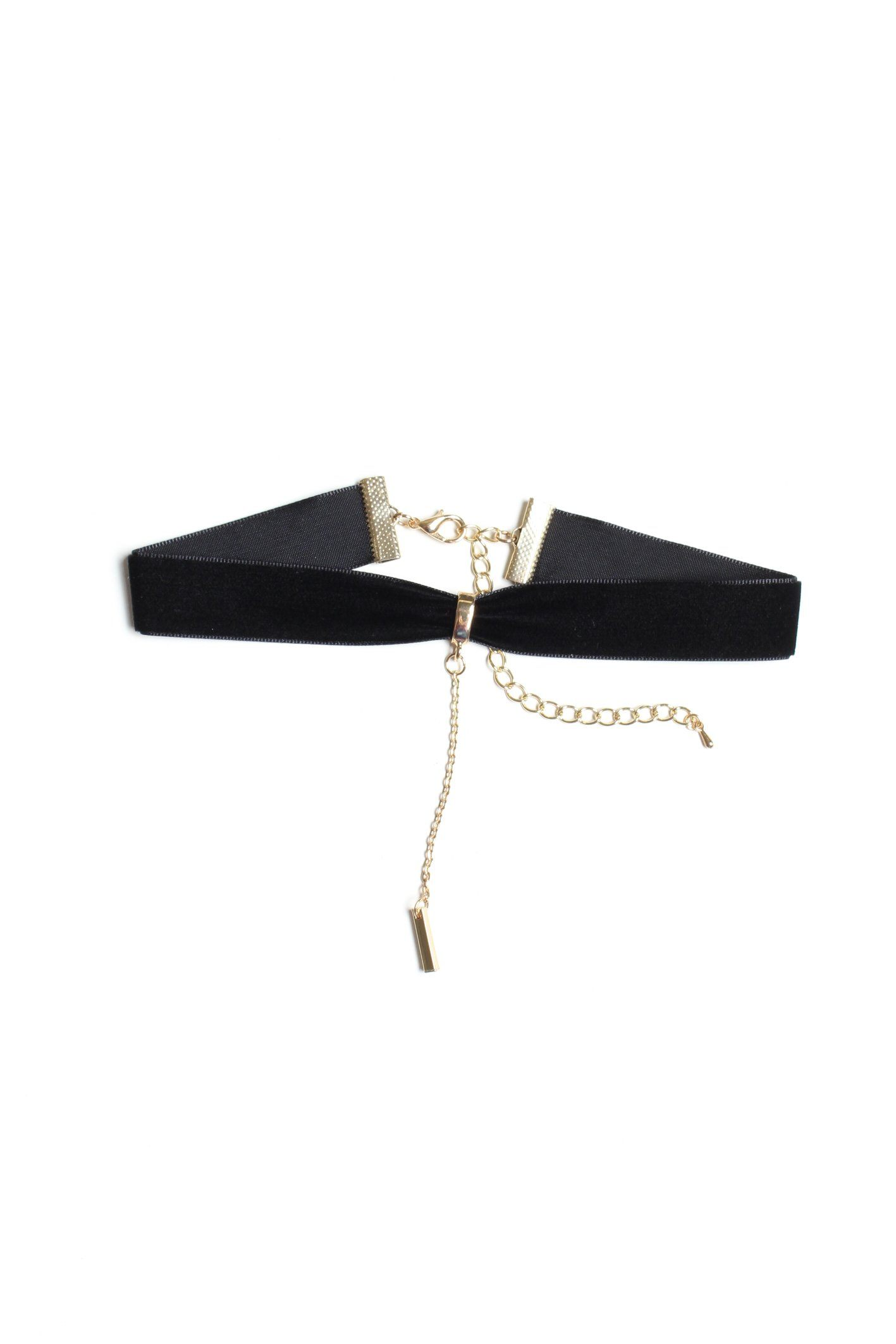 Hold The Bar Velvet Choker - Black